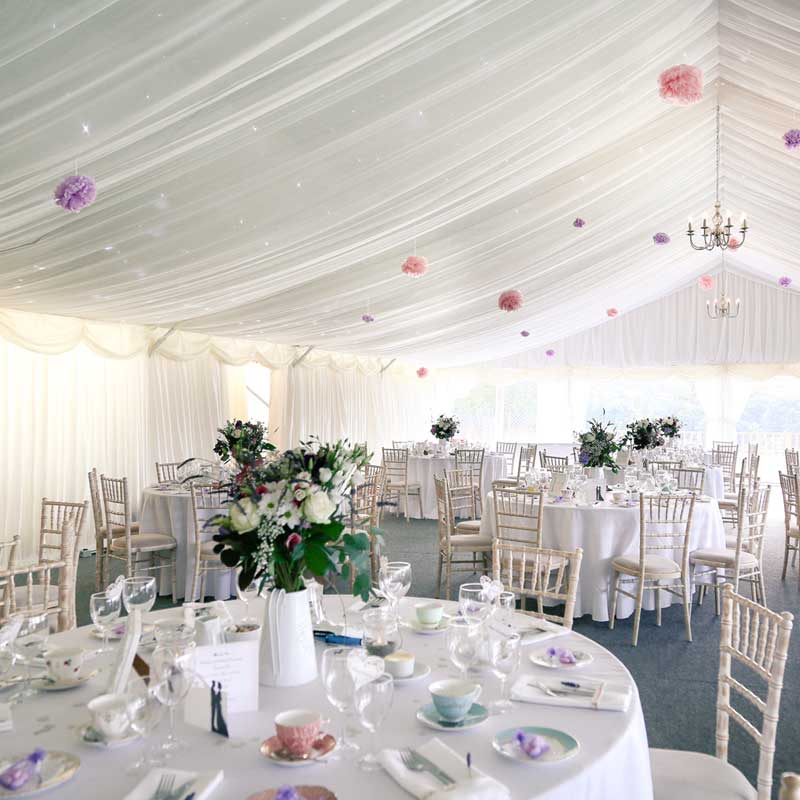 Shottle Hall Coach house marquee